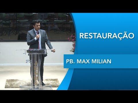 Pb. Max Milian   Restaurando a intimidade   Hebreus 10.19   03 10 2019