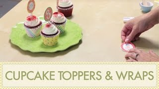 How to Make Cupcake Toppers & How to Make Cupcake Wrappers: DIY Tutorial Using Printables