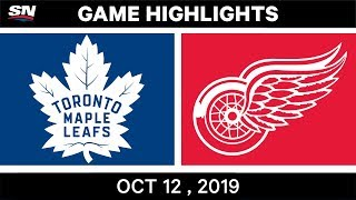NHL Highlights | Maple Leafs vs Red Wings – Oct 12th 2019