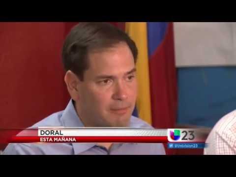 Comunidad venezolana respalda a Marco Rubio para el senado.
