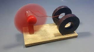 free energy generator device with magnet & dc motor _ science experiment at home