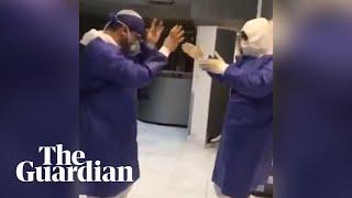 Coronavirus: Doctors, nurses dancing in Iran to boost conf..