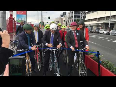 Quay Street cycleway opening