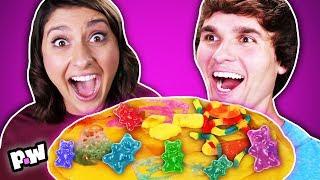 Gummy Pancake Challenge!! Gummy vs Real Food Challenge