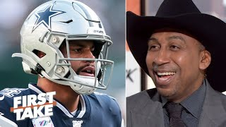 Stephen A. is overjoyed with the Cowboys' 3-game losing streak on his birthday | First Take