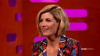 Doctor Who's Jodie Whittaker's NSFW Hometown Name | The Graham Norton Show | BBC America