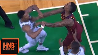 Marcus Smart & JR Smith skirmish, double technical, JR flagrant foul / Celtics vs Cavaliers Game 2