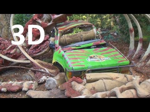 Jurassic Park Picture Cars and Flash Flood (3D) Universal Studios Hollywood Studio Tour