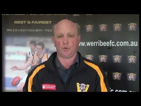 Mark Penaluna Congratulates Michael Barlow on 100 Games
