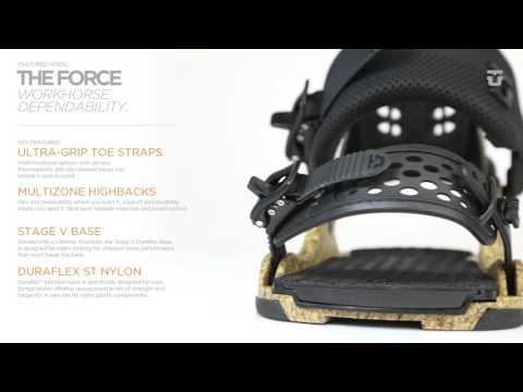 Union Force Snowboard Bindings - White