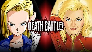 Android 18 VS Captain Marvel (Dragon Ball VS Marvel Comics)   DEATH BATTLE!