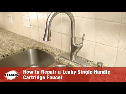 How to Repair a Leaky Single Handle Cartridge Faucet
