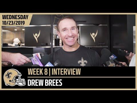 Drew Brees Updates on Injury, Talks Week 8 vs Cardinals | New Orleans Saints Football