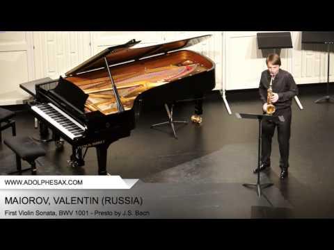 Dinant 2014 - Maiorov, Valentin - First Violin Sonata, BWV 1001 - Presto by J.S. Bach