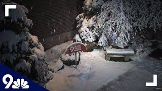 April snowstorm in the 9Backyard in Denver