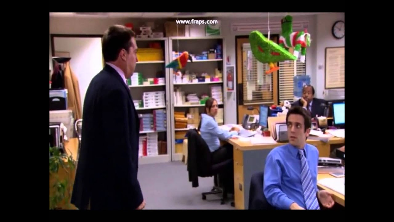 Andy from office punches the wall