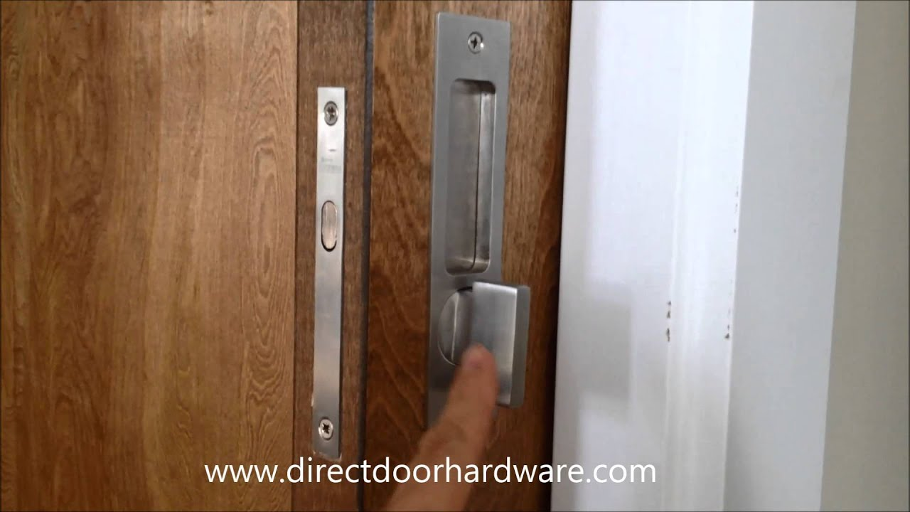 Linnea Pl 160 Privacy Pocket Door Lock With Ada Turnpiece