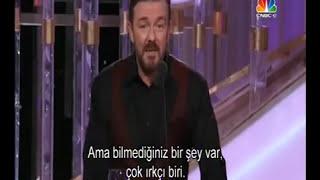 Ricky Gervais hosting Golden Globe 2012 - Turkish Subtitles - Türkçe