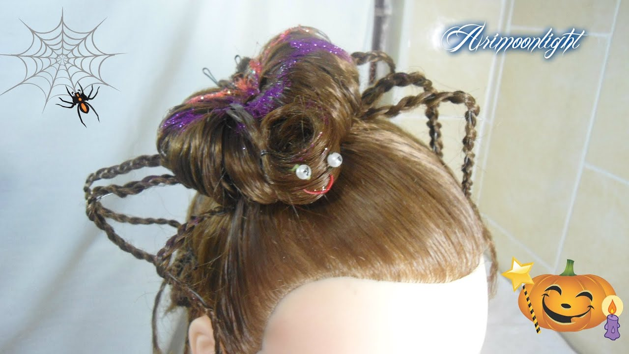 Halloween Hair Styles: Peinado Araña Para Halloween/hairstyle Halloween Spider