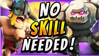 3 CROWN IN 45 SECONDS! UNSTOPPABLE GOLEM EBARBS DECK — Clash Royale