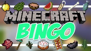 MINECRAFT BINGO With Friends! - First Timer! (Minigame Video)