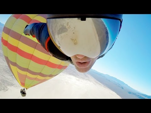 Urban Armor Gear & JT Holmes Take Flight In Latest Hot Air Balloon, BASE Jump, Wingsuit Video
