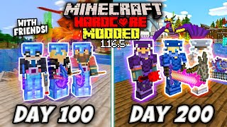 I Survived 200 Days in HARDCORE MODDED Minecraft with MY BEST FRIENDS! This is What Happened...