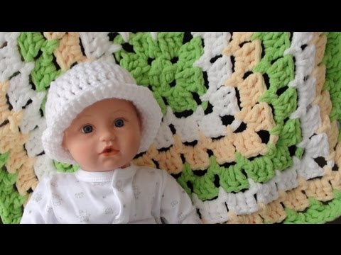Bernat Baby Blanket From The Middle Part 1 How To