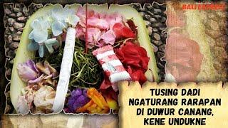 Tusing Dadi Ngaturang Rarapan di Duwur Canang, Kene Undukne