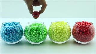 Learn Colors for Kids with PJ Masks, Kids Toys Bath Time Coca Cola Bottles