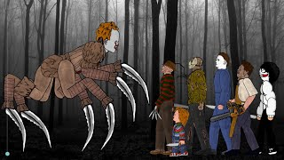 IT Pennywise vs Jason Voorhees, Freddy Krueger, Michael Myers, Leatherface, Chucky, Jeff