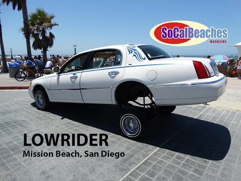 Lowrider Car Puts on a Show in Mission Beach