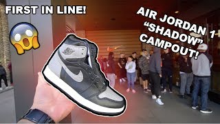 "CAMPING OUT FOR THE NIKE AIR JORDAN 1 ""SHADOW"" !! *6 PAIR CASH-OUT*"