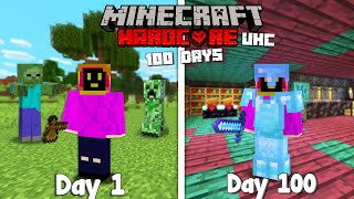 I survived 100 Days Of Minecraft Ultra Hardcore , And this is what Happened...