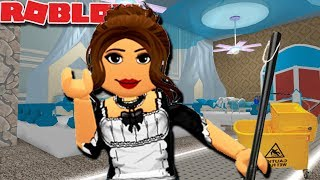 BEING A MAID IN FANTASIA HOTEL | Royale High Roblox Roleplay