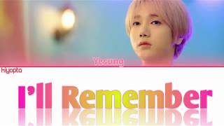 Yesung - I'll Remember Color Coded Lyrics [ Han/Rom/Eng ]