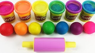 Learn Colors with Play Doh Balls and Cookie Molds Fun & Creative for Kids