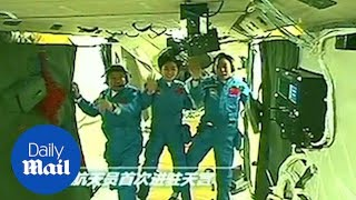 Footage shows life inside now defunct Chinese space station Tiangong-1 - Daily Mail