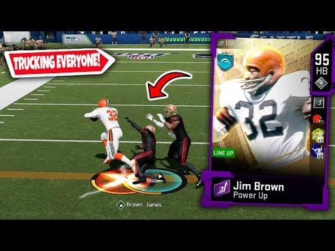 JIM BROWN RUNNING THROUGH DEFENDERS! MADDEN 20 ULTIMATE TEAM