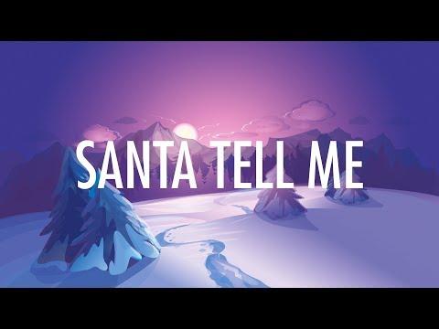 Ariana Grande – Santa Tell Me (Lyrics) 🎵
