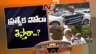 TDP, YSCP MPs protest in Parl. for AP special status..