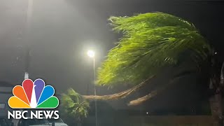 Watch: Tropical Storm Beta Makes Landfall With Heavy Rain, Wind In Texas | NBC News NOW