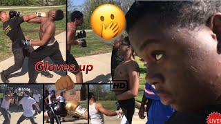 Put The Gloves On Public Boxing | ft. Luh Kel & Dstaticc