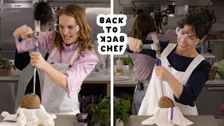 Natalie Portman Tries to Keep Up With a Professional Chef   Back-to-Back Chef   Bon Appétit