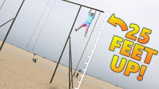Muscle Beach Parkourse Challenge!! (BEACH PARKOUR)