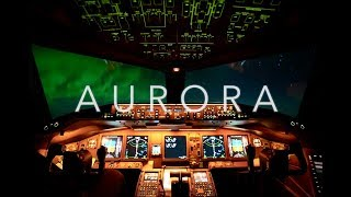 Northern Lights From the Boeing 777