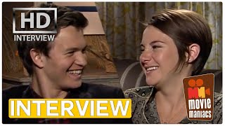 The Fault In Our Stars   Shailene Woodley & Ansel Elgort Exclusive Interview BEST KISS