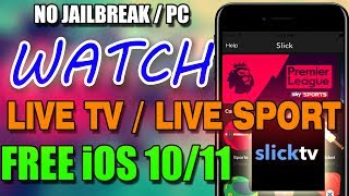 How To Watch Live Sports, Cable TV & Live TV iOS 10.3.2 - 10 / 11 No Jailbreak No Computer FREE