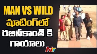 Rajinikanth Injured In Man vs Wild Episode Shoot At Bandip..