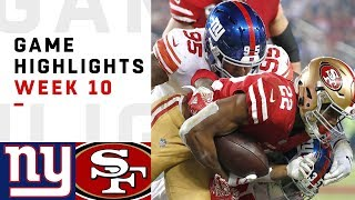 Giants vs. 49ers Week 10 Highlights | NFL 2018